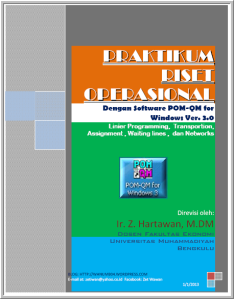 Praktikum RO-POM For Windows 3